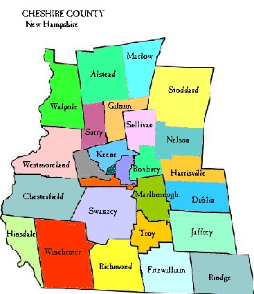 Clickable Map of Cheshire County NH